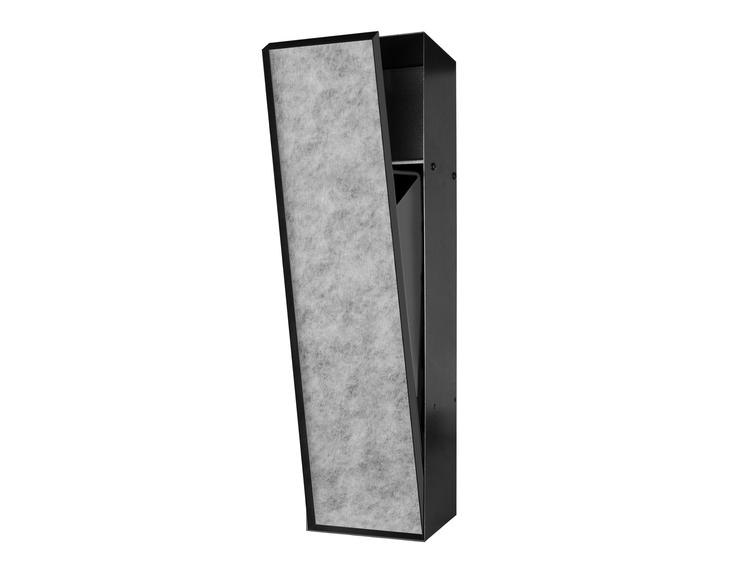 ESS Container T-Roll sort med søppelkorgog nisje,med dør for flis