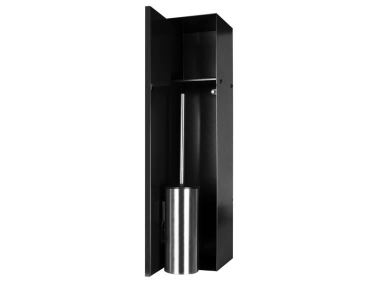 ESS Container T-Roll sort med WC-børste og nisje,med dør for flis