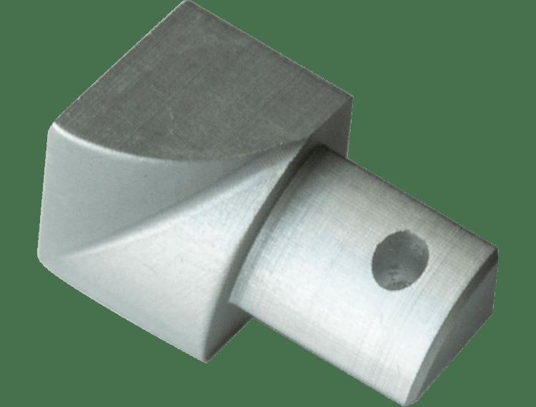 Projolly Quart innv hjørne eloksert alu 12,5 mm 2pk.