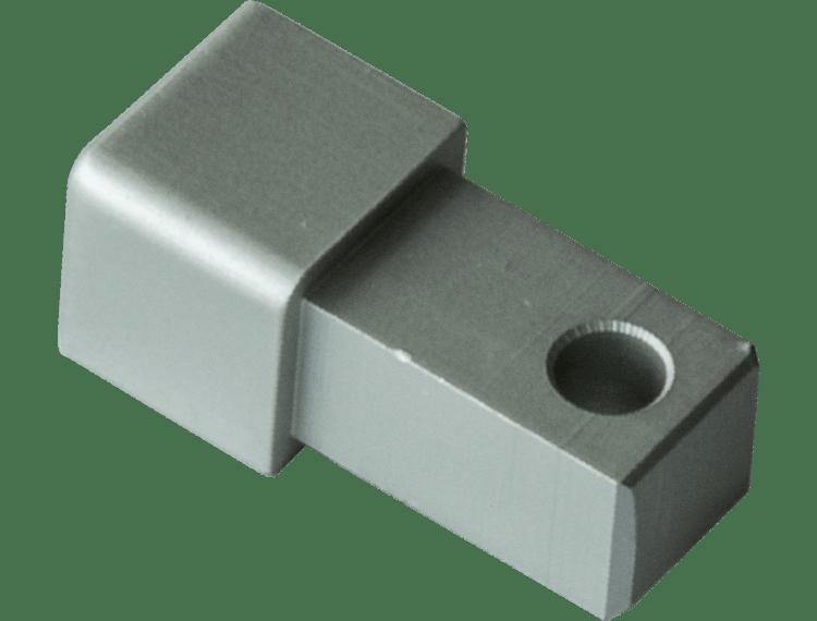 Projolly firkant Symetric hjørnestk eloksert alu 12,5 mm 2pk.