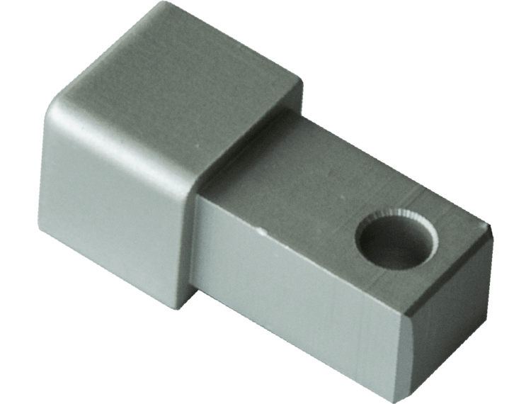 Projolly firkant Symetric hjørnestk eloksert alu 8 mm 2pk.