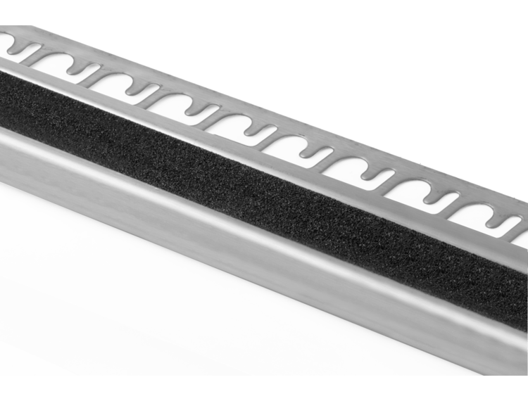 Prostair Grip ACC trappenese børstet stål 10 mm 270 cm