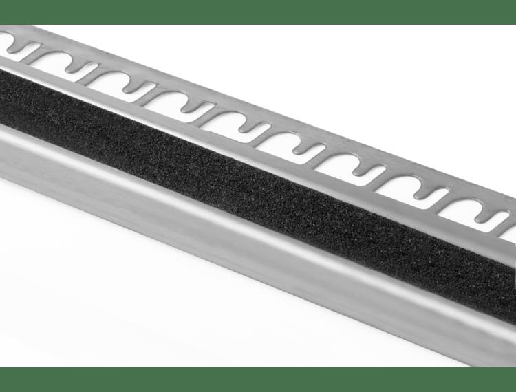 Prostair Grip ACC trappenese børstet stål 12,5 mm 270 cm