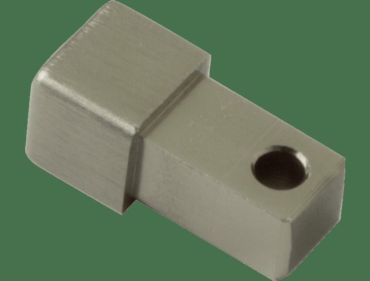 Projolly firkant Symetric hjørnestk børstet titan alu 10 mm 2pk.