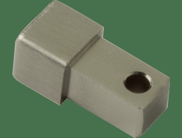 Projolly firkant Symetric hjørnestk børstet titan alu 12,5 mm 2pk.