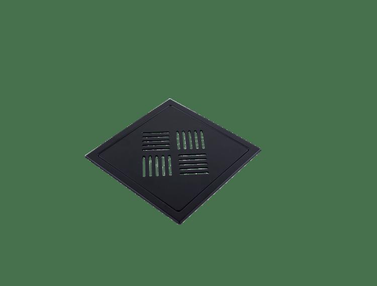 Design Slukrist N°3 20x20cm sort matt stål