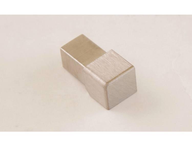 Projolly firkant Symetric hjørnestk børstet stål 12,5 mm 2pk.