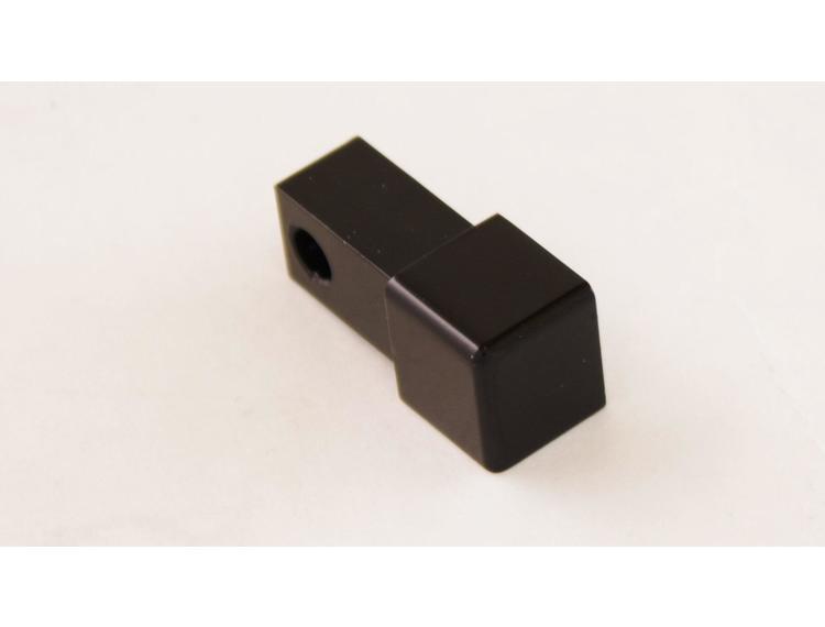 Projolly firkant Symetric hjørnestk sort blank alu 12,5 mm 2pk.