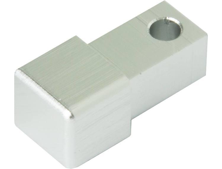 Projolly firkant Symetric hjørnestk børstet blank alu 8 mm 2pk.