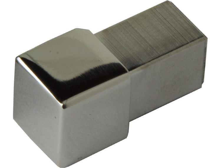 Projolly firkant Symetric hjørnestk titan blank alu 8 mm 2pk.