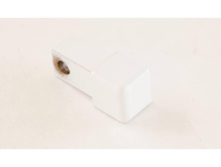 Projolly firkant Symetric hjørnestk hvit alu 10 mm 2pk.