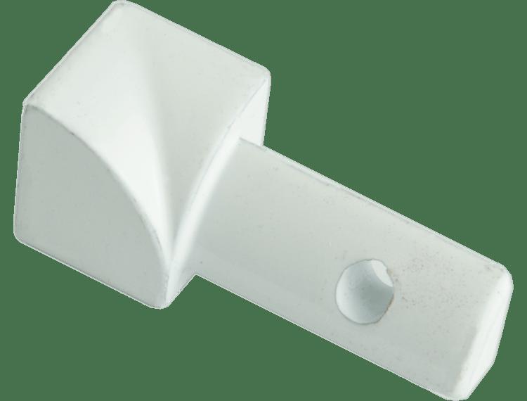 Projolly Quart innv hjørne hvit alu 10 mm 2pk
