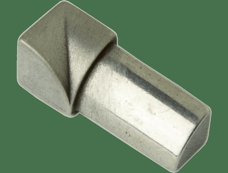 Projolly Quart innv hjørne børstet stål 10 mm 2pk.