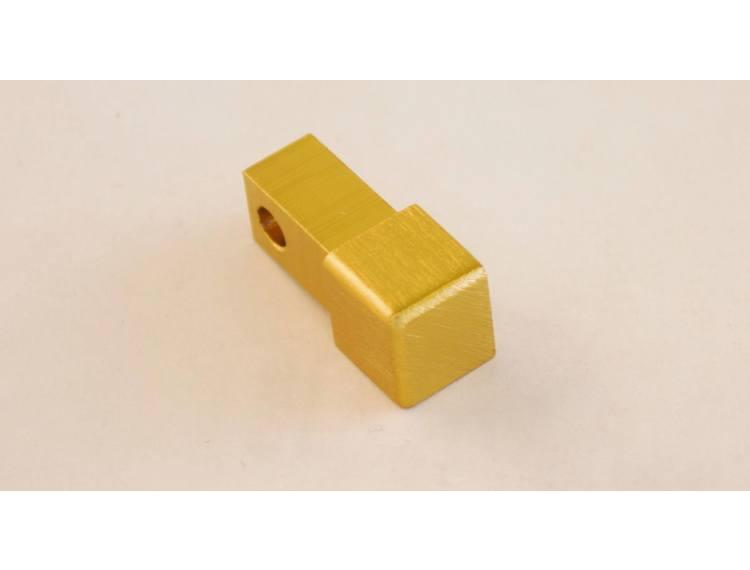 Projolly firkant Symetric hjørnestk børstet gull alu 12,5 mm 2pk.