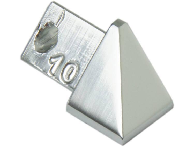 Projolly trekant utvendig hjørne krom alu 10 mm 2pk.