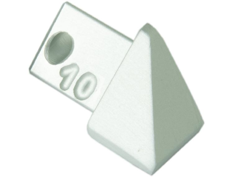 Projolly trekant utvendig hjørne eloksert alu 8 mm 2pk.
