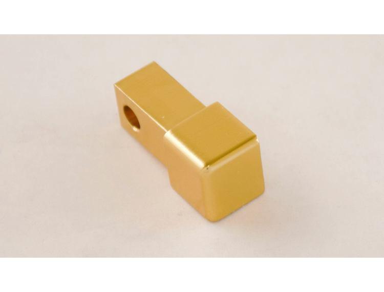 Projolly firkant Symetric hjørnestk gull blank alu 12,5 mm 2pk.