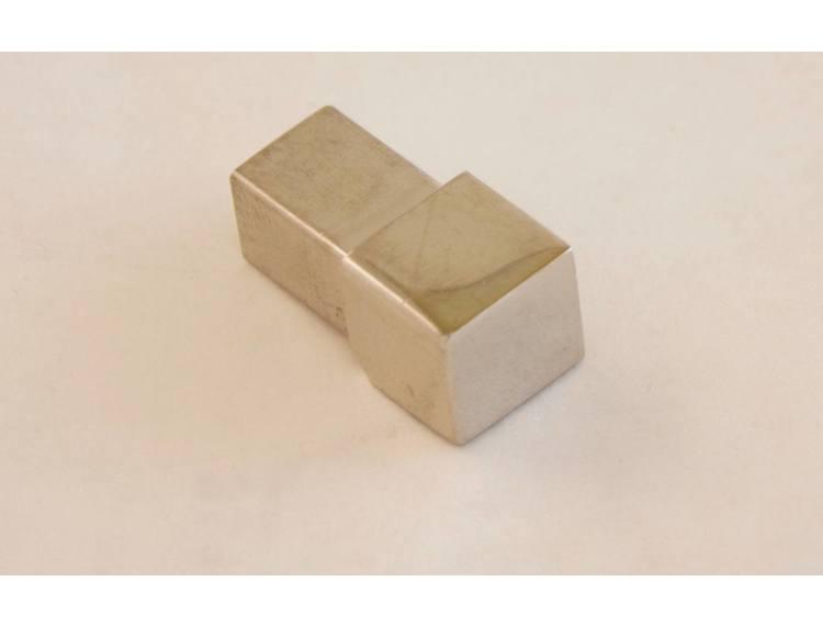 Projolly firkant Symetric hjørnestk blankpolert stål 12,5 mm 2pk.