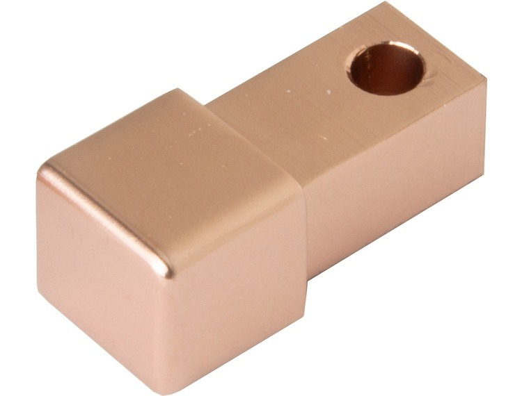Projolly firkant Symetric hjørnestk kobber blank alu 10 mm 2pk.