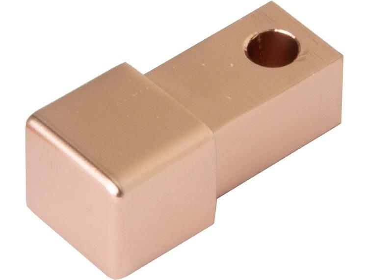 Projolly firkant Symetric hjørnestk kobber blank alu 12,5 mm 2pk.