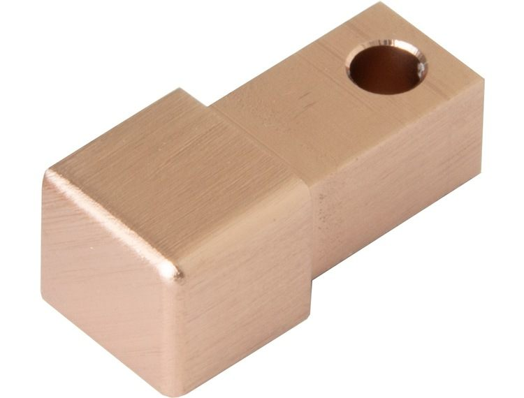 Projolly firkant Symetric hjørnestk børstet kobber alu 12,5 mm 2pk.