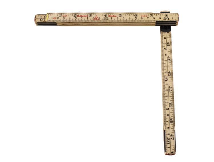 Hultafors meterstokk i tre 2 m