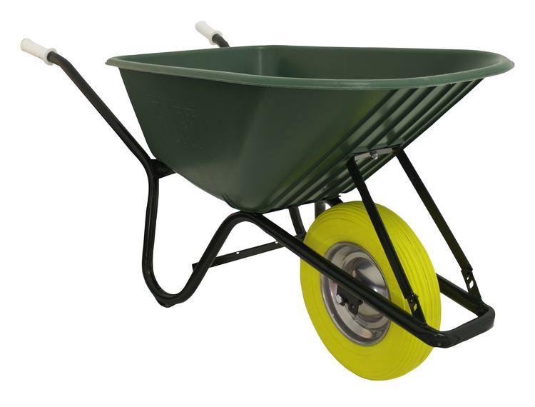 Betongbåre kunststoff 100 PL m/punkteringsfritt hjul