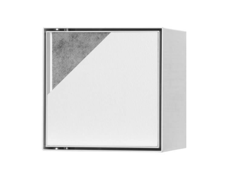 ESS Container T-Roll  hvit 15x15x14 cm,oppbevaring, med dør for flis