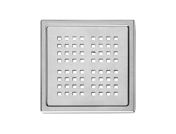 Design Slukrist N°17 20x20cm børstet stål