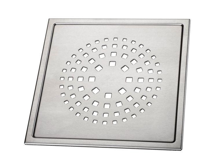 Design Slukrist Coral 20x20cm børstet syrefast stål