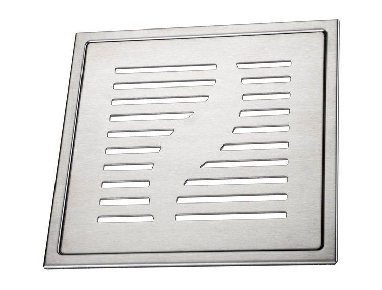 Design Slukrist Capri 20x20cm børstet syrefast stål