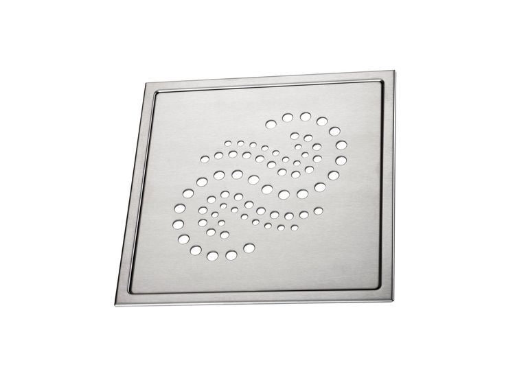 Design Slukrist Peridot 20x20cm børstet syrefast stål