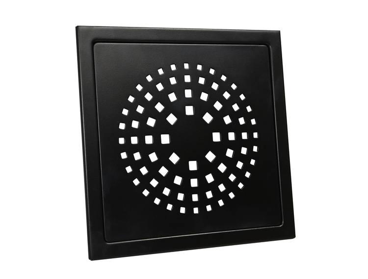Design Slukrist Coral 20x20cm sort matt stål