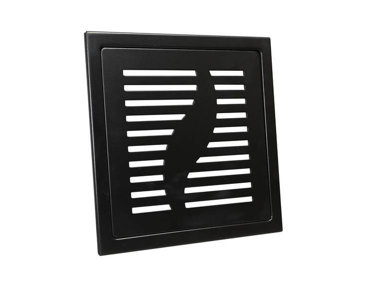 Design Slukrist Capri 20x20cm sort matt stål
