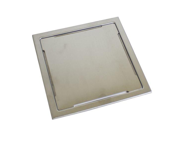 Design Slukrist N°15 20x20cm børstet stål