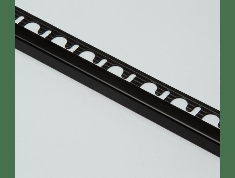 Projolly firkant Symetriclist sort matt alu 12,5 mm 270 cm
