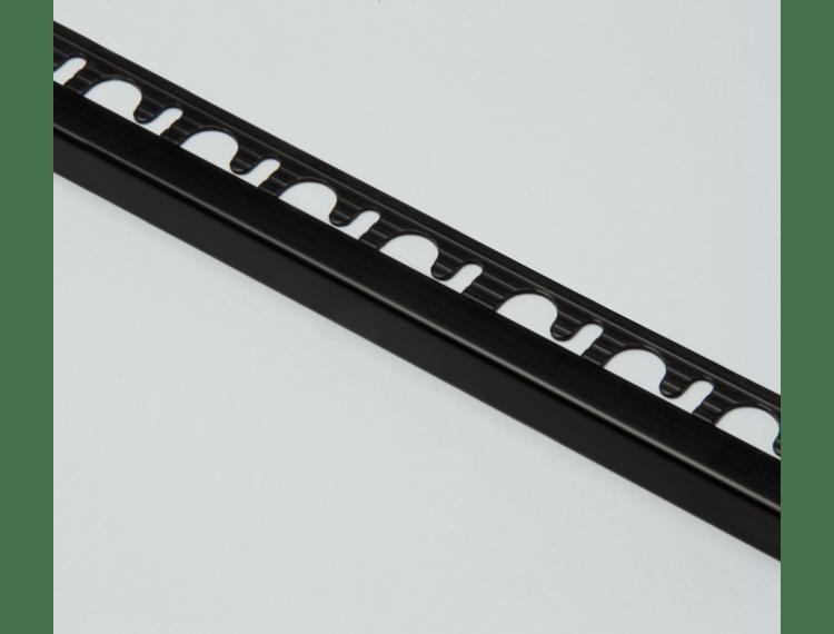 Projolly firkant Symetriclist sort matt alu 10 mm 270 cm