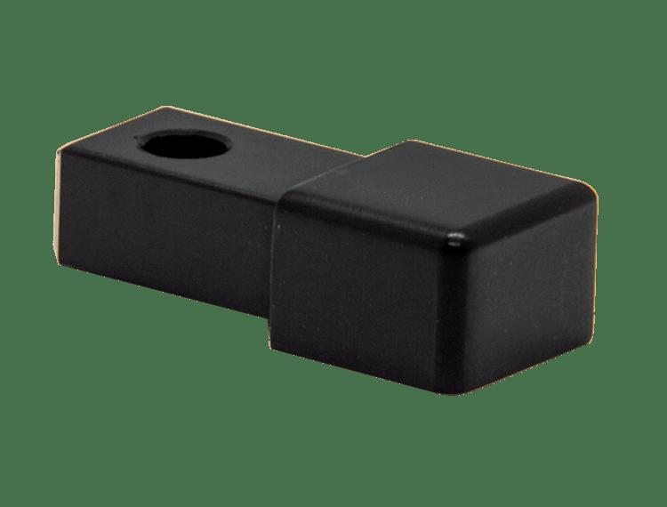 Projolly firkant Symetric hjørnestk sort matt alu 12,5 mm 2pk.