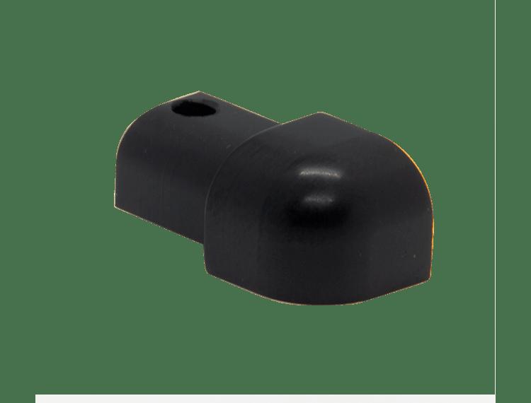 Projolly Quart treveis hjørne sort matt alu 10 mm 2 pk