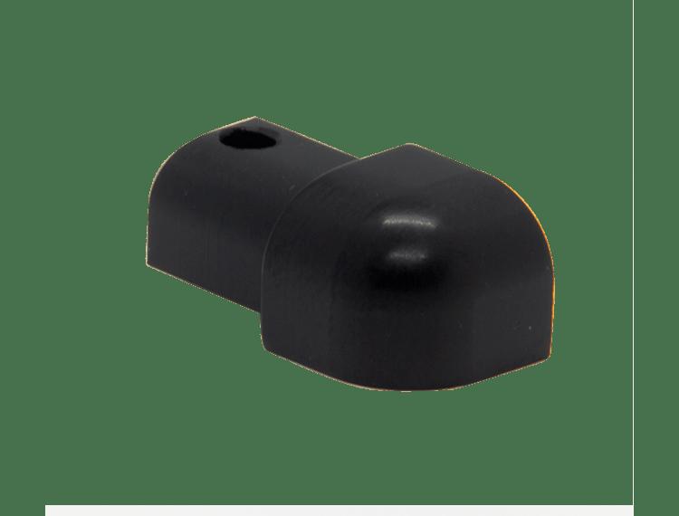 Projolly Quart treveis hjørne sort matt alu 12,5 mm 2 pk