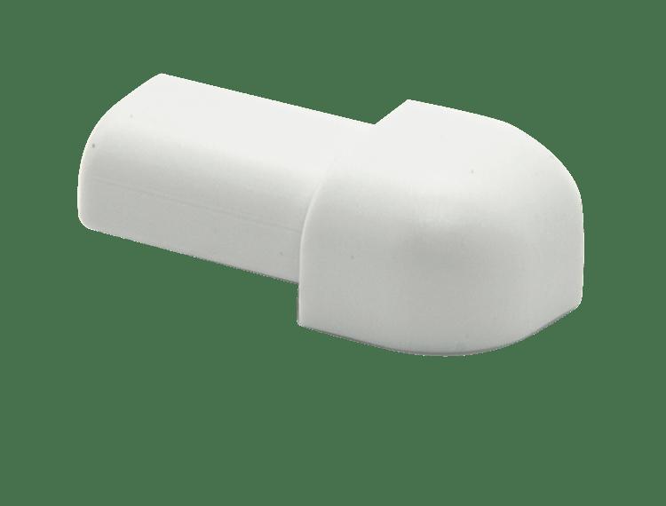 Projolly Quart treveis hjørne hvit PVC 8 mm 5 pk
