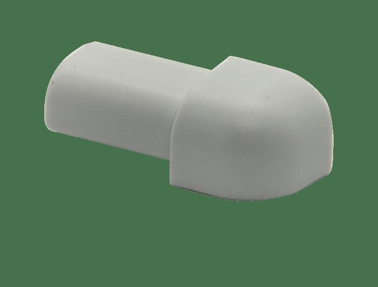 Projolly Quart treveis hjørne lys grå PVC 8 mm 5 pk