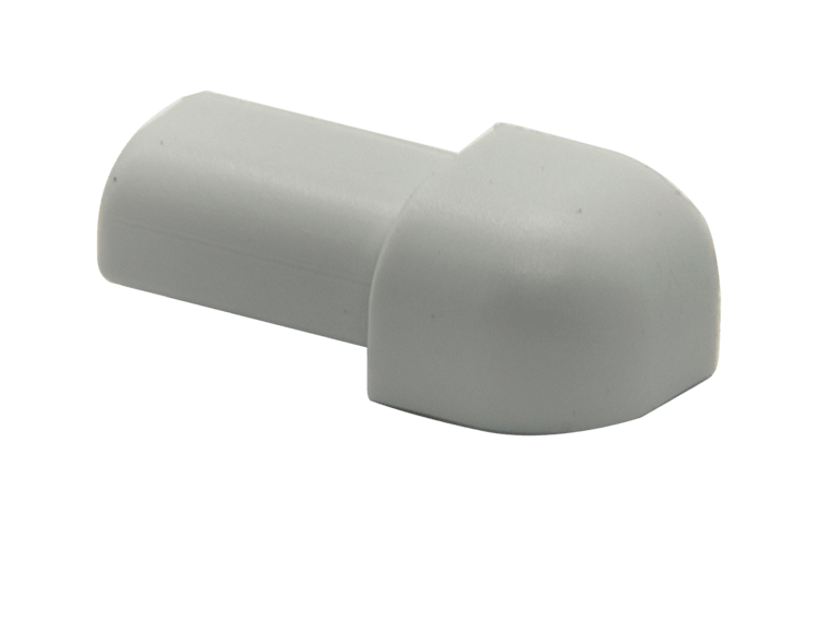 Projolly Quart treveis hjørne lys grå PVC 10 mm 5 pk