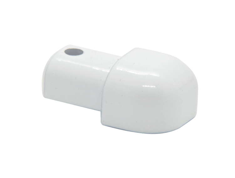 Projolly Quart treveis hjørne hvit alu 10 mm 2pk.