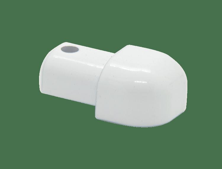 Projolly Quart treveis hjørne hvit alu 8 mm 2pk.