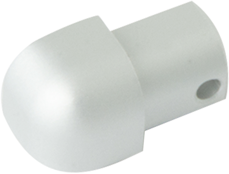 Projolly Quart treveis hjørne eloksert alu 8 mm 2pk.