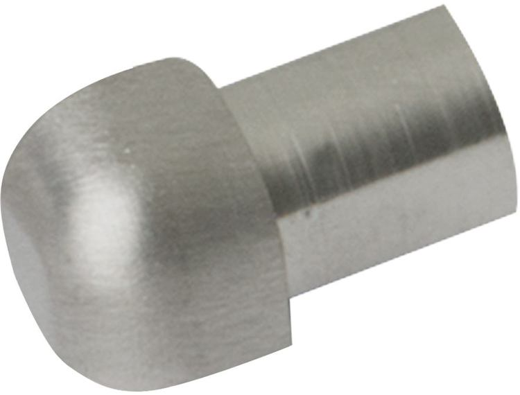 Projolly Quart treveis hjørne børstet stål 10 mm 2pk.