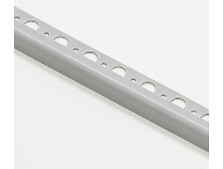 Projolly Quart rund list lys grå PVC 12,5 mm 270 cm