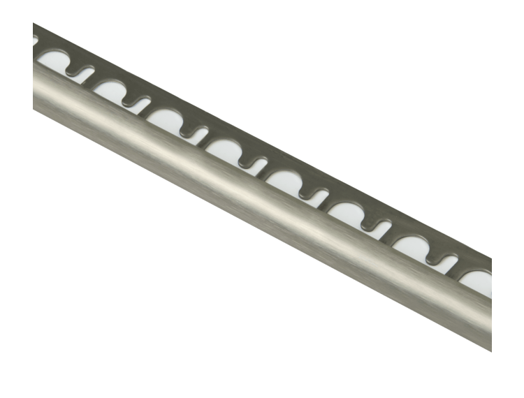 Projolly Quart rund list børstet stål 10 mm 270 cm