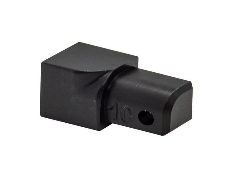 Projolly Quart innv hjørne sort matt alu 10 mm 2 pk